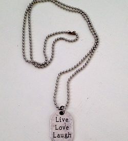 Ketting live love laugh