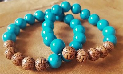 toffe armbanden turquoise groot